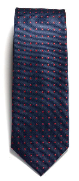 JH&F Tie Dot Navy/Red 0
