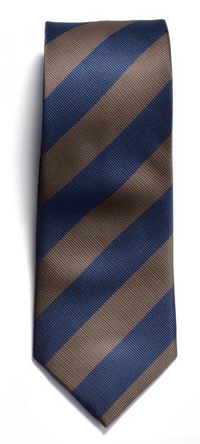 JH&F Tie Regimental Stripe Navy/Brown 0