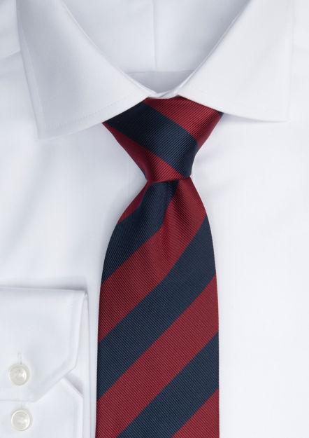 JH&F Tie Regimental Stripe Navy/Wine 0
