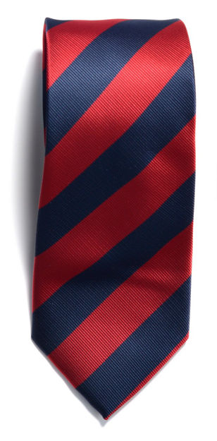 JH&F Tie Regimental Stripe Navy/Red 0