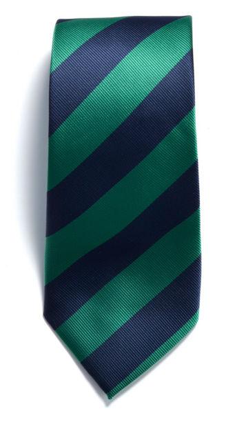 JH&F Tie Regimental Stripe Navy/Green 0