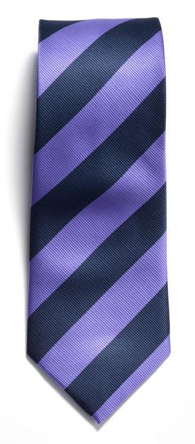 JH&F Tie Regimental Stripe Navy/Purple 0