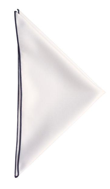JH&F Handkerchief White/Navy Blue 0