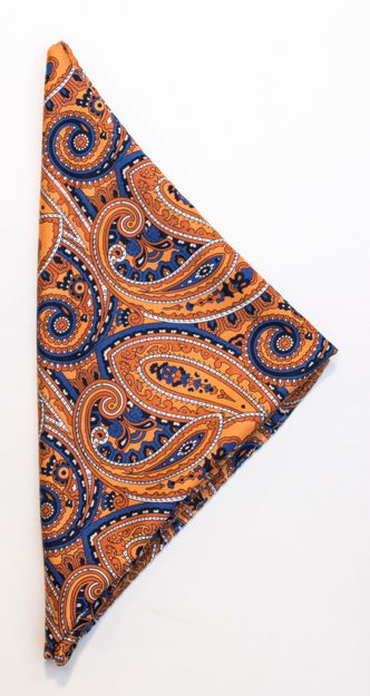 JH&F Handkerchief Paisley Orange 0