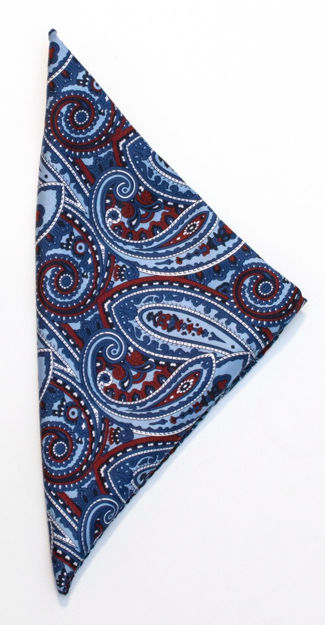 JH&F Handkerchief Paisley Blue 0