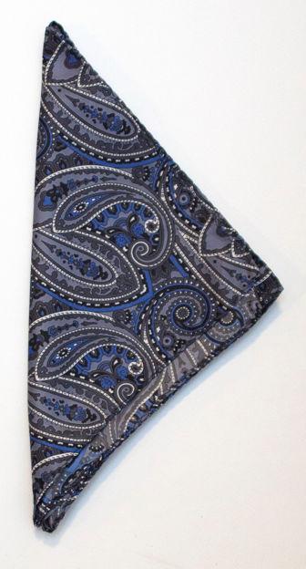 JH&F Handkerchief Paisley Grey 0