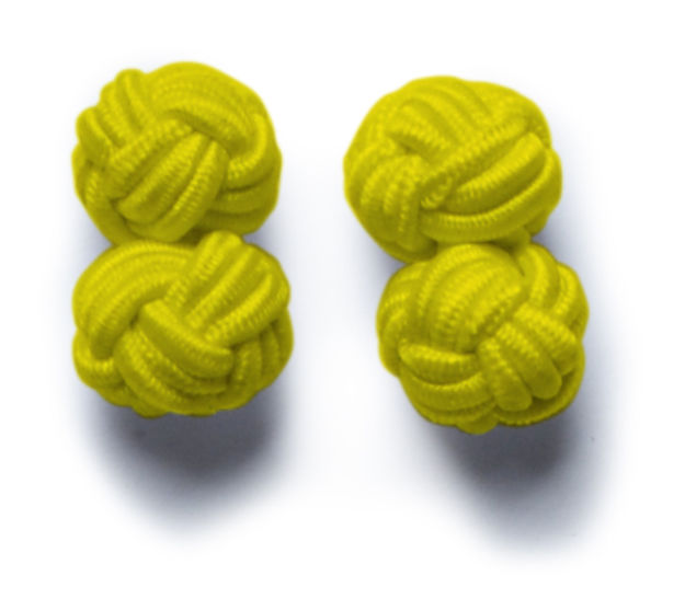 JH&F Cufflinks Yellow 0